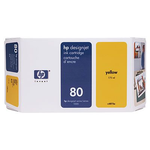 Cartridge HP 80 DsgJ 1000/1050C/1055CM, желный (350ml)