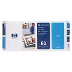 Печатающие головка HP 80 с устройством очистки для DsgJ 1050C,C Plus/1055CM,CM Plus , синий