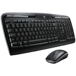 Logitech Wireless Desktop MK330, (Keybord&mouse),  USB, Black, [920-003995]