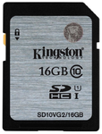 Kingston Secure Digital Card 16GB SDHC Class10 UHS-I 45MB/s Read Flash Card
