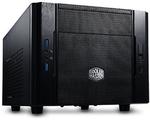 """Elite 130 (RC-130-KKN1) без БП, mini-ITX, полностью черный, USB 3.0 x2, USB 2.0 x 1, Mic x 1, аудио x 1, 1х120 мм вентилятор предустановлен спереди,  поддержка до 3-х HDD формата 3.5"""""""