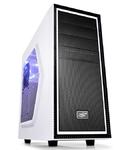 Корпус Deepcool TESSERACT SW WHITE без БП, боковое окно, белый, ATX