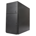 MidiTower Powerman ES861 Black PM-400ATX 2*USB 2.0,HD,Audio mATX