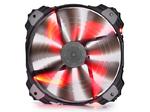 Вентилятор DEEPCOOL Xfan200RD 200x200x32мм (20шт./кор, пит. от мат.платы и БП, красная подсветка, 700об/мин) Retail blister