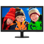 "27"" Philips 273V5LSB 1920x1080 TN LED 16:9 5ms VGA DVI-D 10M:1 170/160 300cd Black"