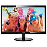 "24"" Philips 246V5LDSB 1920x1080 TN LED 16:9 1ms VGA DVI HDMI 10M:1 170/160 250cd Black"