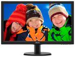 "23,6"" Philips 243V5QHABA 1920x1080 MVA W-LED 16:9 8ms VGA DVI-D HDMI 10M:1 178/178 250cd Sapeakers Black ."