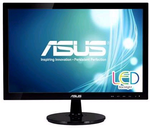 "ASUS 18.5"" VS197DE LED, 1366x768, 5ms, 200cd/m2, 90°/65°, 50M:1,D-Sub, регулировка наклона, Black, 90LMF1001T02201C-"