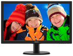 "23,6"" Philips 243V5LHAB 1920x1080 TN LED 16:9 5ms VGA DVI-D 1xHDMI 10M:1 170/160 250cd Speakers Audio-out/Headphones Black*243V5LHAB/00"