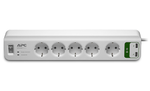 APC Essential SurgeArrest 5 outlets with 5V, 2.4A 2 port USB Charger 230V Russia
