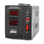 Powerman AVS-D Voltage Regulator 500VA, Digital Indication, 2x Schuko Outlets, 1m Power Cord, 230V, 1 year warranty, Black