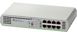 Allied telesis 8 port 10/100/1000TX unmanaged switch with external power supply EU Power Adapter