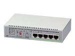 Allied telesis 5 port 10/100/1000TX unmanaged switch with internal power supply EU Power Adapter