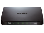 D-Link DGS-1024A/B1A, 24-port UTP 10/100/1000Mbps Auto-sensing, Stand-alone, Unmanaged