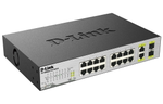 D-Link DES-1018P/A1A, 8 Ports 10/100 Mbps PoE + 8 Ports 10/100 Mbps + 2 10/100/1000BASE-T/SFP Combo Ports Unmanaged Switch