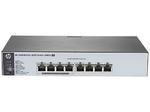 HPE 1820 8G PoE+ (65W) Switch (4 ports 10/100/1000 + 4 ports 10/100/1000 PoE+, WEB-managed)