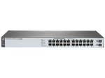 HPE 1820 24G PoE+ (185W) Switch (12 ports 10/100/1000 + 12 ports 10/100/1000 PoE+ + 2 SFP, WEB-managed)