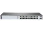 HPE 1820 24G PoE+ (185W) Switch (12 ports 10/100/1000 + 12 ports 10/100/1000 PoE+ + 2 SFP, WEB-managed)