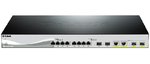 D-Link DXS-1210-12TC, 10 Gigabit Ethernet Smart Switch with 8-port 10GBASE-T + 2-port SFP + 2-port 10GBASE-T/SFP
