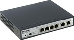 D-Link DES-1100-06MP/A1A, 4 10/100Base-TX PoE ports + 2 10/100/1000Base-T Ports Metro Ethernet Switch PoE Budget 80W, Supports 802.3at and 802.3af Port Mirroring, IGMP Snooping, Link Aggregation 802.3