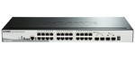 D-Link DGS-1510-28P/A1A, Gigabit Stackable SmartPro Switch with 24 10/100/1000Base-T PoE ports, 2 Gigabit SFP, 2 10G SFP+  ports