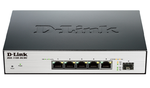 D-Link DGS-1100-06/ME/A1B, 5 10/100/1000Base-T ports and 1 SFP port Metro CPE