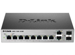 D-Link DGS-1100-10/ME/A1A, 8-Port 10/100/1000Base-T ports + 2 combo 100/1000Base-T/SFP ports Metro Ethernet Switch