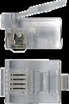 Коннектор RJ12 д/кабеля 4-ех контактный, 100 шт.