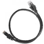 ITK Коммутационный шнур (патч-корд), кат.5Е UTP, 1м, черный