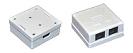 ITK Настенная информационная розетка RJ45 8P8C, кат.6 UTP, 2-порта, белая