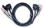 ATEN CABLE DVI/USBA/SP.MC-DVI/USB B; 3M*2L-7D03U