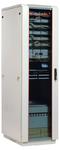 Шкаф телекоммуникационный напольный 27U (600x600) дверь стекло (2 места), [ ШТК-М-27.6.6-1ААА ]
