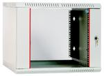 Шкаф телекоммуникационный настенный разборный 9U (600х520) дверь стекло, [ ШРН-Э-9.500 ]
