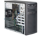 Supermicro SuperServer Mid-Tower 5039D-i CPU(1) E3-1200v5/ noHS/ no memory(4)/ on board RAID 0/1/5/10/ internalHDD(4)LFF/ 2xGE/ 3xFH/ 1x300W Gold/ no Backplane
