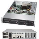 Supermicro SuperStorage 2U Server 6028R-E1CR12L no CPU(2)E5-2600v3/v4 no memory(16)/ on board C612 RAID 0/1/5/10/ LSI3008/ noHDD(12)LFF/opt.2x2.5(rear)/ 2x10Gb/7xLP/2x920W/ Single Expander backplane