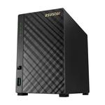 ASUSTOR AS3102T 2-Bay NAS/MPl/Cel 2,16Ghz(2Core)/2GBDDR3/noHDD,LFF(HDD,SSD),/1x1GbE( LAN)/3xUSB3.0,HDMI1.4b/4ip camera license ; 90IX00M1-BW3S10