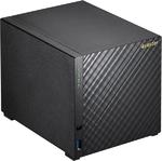 ASUSTOR AS3204T 4-Bay NAS/Media player/ Intel Celeron 1.6GHz Quad Core (burst up to 2.24 GHz)/2GBDDR3/noHDD,LFF(HDD,SSD),/1x1GbE(LAN)/3xUSB 3.0,HDMI1.4b/4ip camera license ; 90IX00W1-BW3S10