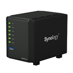 Synology  DS416slim DC1GhzCPU/512Mb/RAID0,1,10,5,6/up to 4HDDs SATA 2,5'/2xUSB 3,0/2xGigEth/iSCSI/2xIPcam(up to 8)/1xPS