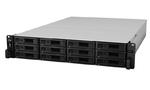 Synology (Rack2U) 6C2,2Ghz/8Gb (64)/RAID0,1,10,5,6/upto12HP HDDs SATA(3,5'or2,5')upto 36 with 2xRX1217RP/2xUSB/4GigEth+2x10GE(+4x10GEopt)/iSCSI/ 2xIPcam(upto90)/2xRPS/no rail/5YW