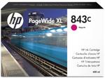 Cartridge HP 843C с пурпурными чернилами 400 мл для PageWide XL 5000/4x000
