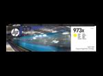 Cartridge HP 973X  PageWide увеличенной емкости, для PW Pro 477/452, желтый (7000 стр.)