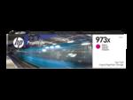 Cartridge HP 973X  PageWide увеличенной емкости, для PW Pro 477/452, пурпурный (7000 стр.)