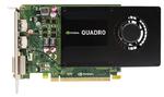 PNY Nvidia Quadro K2200 4GB PCIE 2xDP DVI 1046/1253 128-bit DDR5 640 Cores 2xDP to DVI-D SL & DVI-I to VGA adapter, Bulk