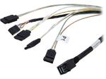 LSI Cable CBL-SFF8643-SATASB-06M (L5-00220-00) (SFF8643- 4*SATA+SB), 60cm Кабель данных SAS, длина 60см,наконечники: SFF8643(контроллер)- 4*SATA+SB