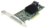 LSI HBA SAS9300-8i (H5-25573-00) (PCI-E 3.0 x8, LP, internal) SGL SAS12G, 8port (2*intSFF8643), Каб.отдельно (аналог LSI00194/H5-25249-01)