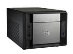 Корпус Elite 120 (RC-120A-KKN1), черно-серебристый, без БП (совместим с обычным опциональным БП), Mini-ITX, Al фронтальная панель, USB 3.0 x1, USB 2.0 x 2, микр. x 1, аудио-выход x 1>