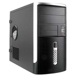 Mini Tower InWin EMR001 Black/Silver 500W 2*USB+AirDuct+Audio mATX