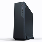 Slim Case Powerman EL501 Blackr PM-300ATX 2*USB 3.0,HD,Audio mATX, miniATX