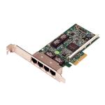 DELL NIC Broadcom 5719 QP 1Gb Network Interface Card, Low Profile - Kit (analog 540-BBHB)