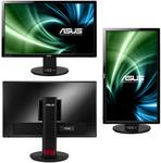 "ASUS 24"" VG248QE LED, 3D Vision, ProGaming, 1920x1080, 1ms, 350cd/m2, 170°/160°, 80Mln:1, 144Hz, DVI, HDMI, DisplayPort, колонки, Tilt, Swivel, Pivot, регул. по высоте, VESA, Black, 90LMGG001Q022B1C"